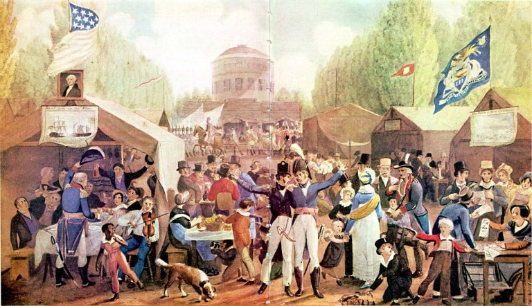 Fourth of July Scene, 1819, painted by John Lewis Krimmel